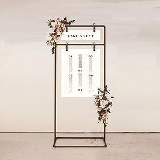 seating chart wedding signage