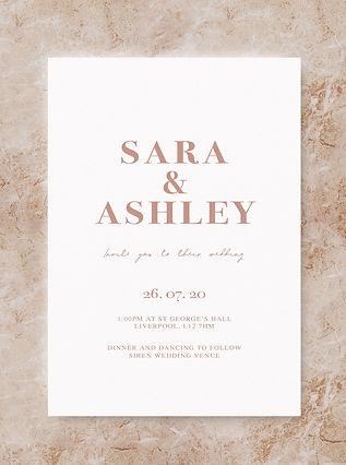 BLOC invitation wedding stationery