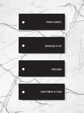 wedding invitation name tag