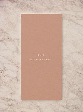 wedding menu card design