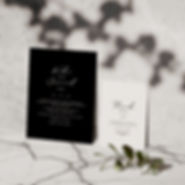 mono wedding stationery collection