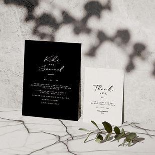 mono wedding stationery collection