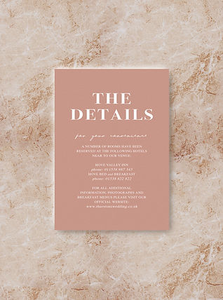 BLOC wedding invitation details card