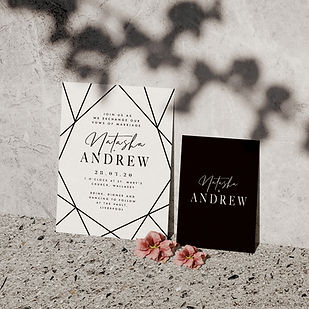 strobe wedding stationery collection