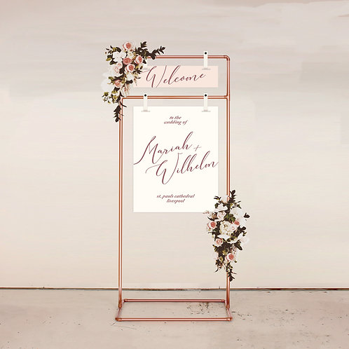 L'Amore Two Piece Welcome Sign