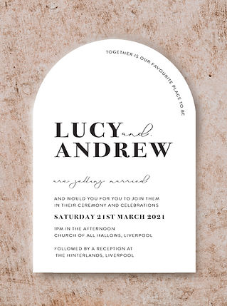 ARCH SHAPE INVITATION FROM THE VOGUE WED