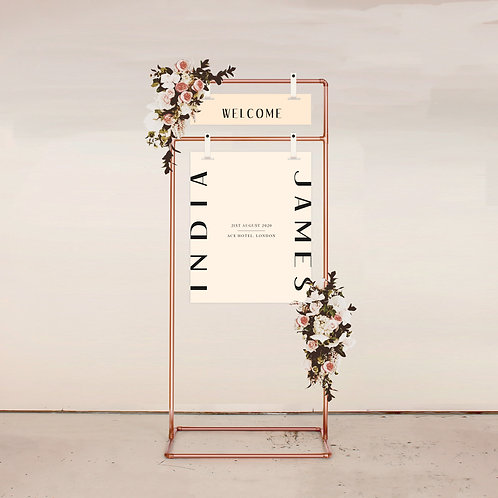 Balance Two Piece Welcome Sign
