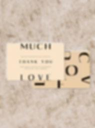 THANK YOU cardwedding stationery