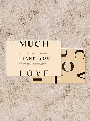THANK YOU cardwedding stationery