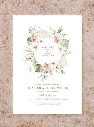 INVITATION FROM THE BOHO WEDDING STATION