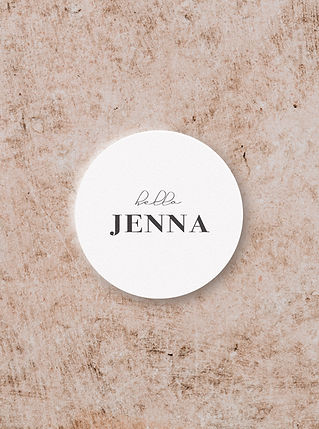 CIRCLE SHAPE PLACE CARD DESIGN FROM THE