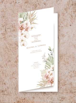 CEREMONY BOOKLET FROM THE BOHO WEDDING S