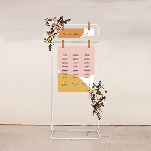 Serene Two Piece Seating Chart