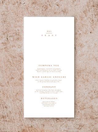 MENU CARD FROM THE BOHO WEDDING STATIONE