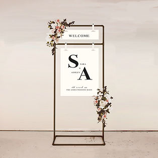 wedding WELCOME SIGN signage