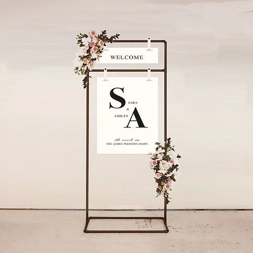 Bloc Two Piece Welcome Sign
