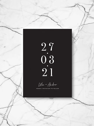 SAVE THE DATE wedding card stationery