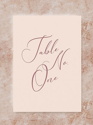 wedding table number card sign