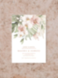 SAVE THE DATE CARD FROM THE BOHO WEDDING