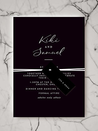 wedding invitation name tag