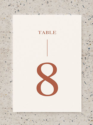 TABLE NUMBER wedding card sign