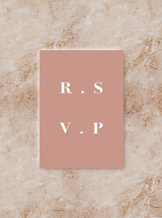 BLOC RSVP card wedding invitation