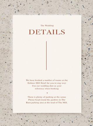 information wedding card stationery