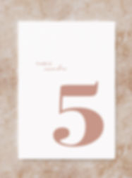 BLOC wedding stationery table number card