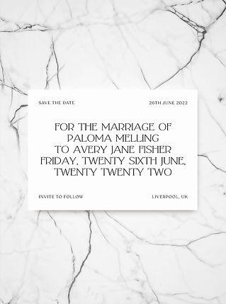 ZANTHE SAVE THE DATE WEDDING INVITATION
