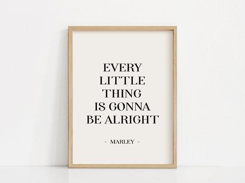 'Alright' Art Print