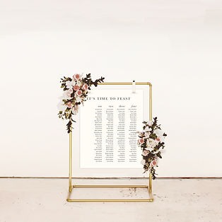 SEATING CHART table plan