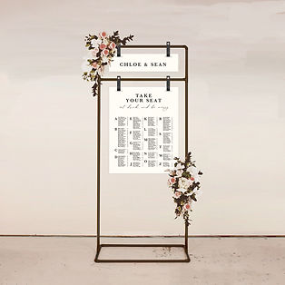 seating chart wedding signage