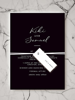 wedding stationery invite name tag