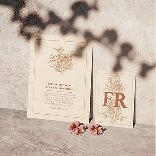 hibiscus wedding stationery collection