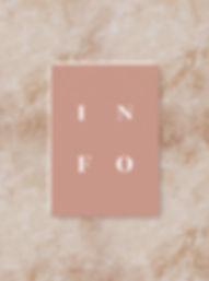 BLOC information card wedding invitation