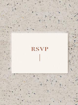RSVP wedding card stationery