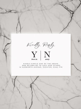 wedding rsvp card stationery set