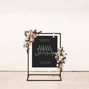 WELCOME SIGN wedding signage black and white