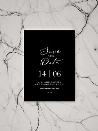 wedding save the date card stationery