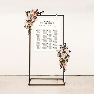 seating plan wedding signage