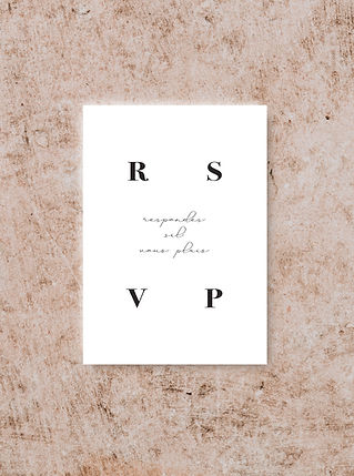 RSVP CARD FROM THE VOGUE WEDDING STATION
