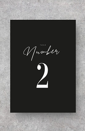 table number sign card