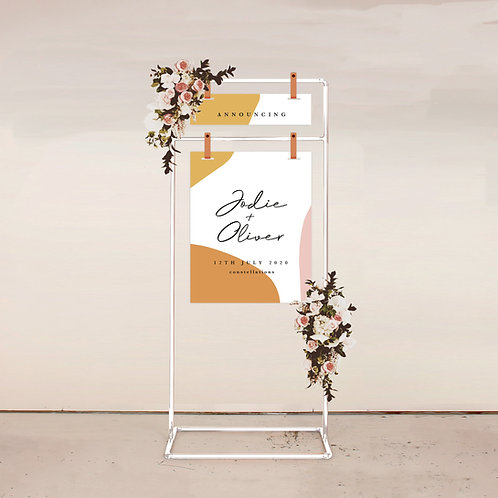 Serene Two Piece Welcome Sign
