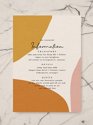 palm springs wedding invitation information card