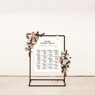 table plan wedding sign