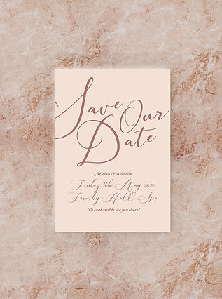 SAVE THE DATE card wedding stationery