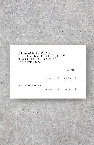 wedding invitation rsvp card