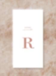 BLOC wedding stationery place card