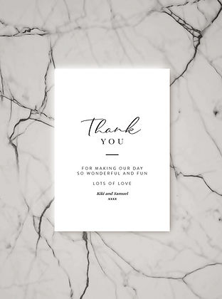 thank you card stationery