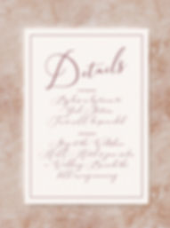 wedding invitation information card